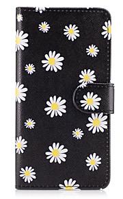 Caso per la grande copertina su7 (2016) della galassia di samsung il piccolo caso di cuoio di cuoio dei modelli bianchi dei fiori per on5