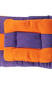 保温 両面 ソフト 耐久 犬の服 ベッド カラーブロック オレンジ パープル 犬