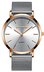 Men's Dress Watch Fashion Watch Quartz Water Resistant / Water Proof Alloy Band Minimalist Silver