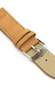 PU Leather Pulseiras de Relógio Alça Marrom 24cm / 9 polegadas 2cm / 0.8 Polegadas