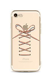 Etui Til Apple iPhone X iPhone 8 Plus Transparent Mønster Bagcover Leger med Apple-logo Blødt TPU for iPhone X iPhone 8 Plus iPhone 8