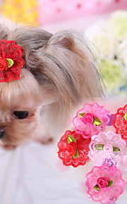 Cat Dog Hair Accessories Hair Bow Dog Clothes Cosplay Wedding Rose Red Pink Costume For Pets
