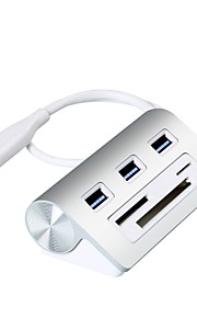 Rocketek 3 USB Hub USB 3.0 USB 3.0 Med Kortlæser (e) / Datalagring / Indgangsbeskyttelse Data Hub