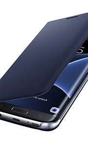 Etui Käyttötarkoitus Samsung Galaxy S8 Plus S8 Korttikotelo Flip Suojakuori Yhtenäinen väri Kova PU-nahka varten S8 Plus S8 S7 edge S7 S6