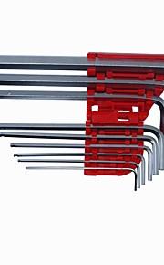 9 PCS Ball Point End Hex Allen Allan Wrench Key Set For Car Motor ATV 1.5mm -10mm