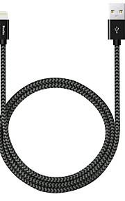 Benks® 120cm pitkä omena hyväksytty MFI salama USB-kaapeli nylon-punottu nopea kaapeli iPhonelle iPad