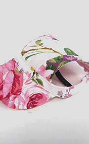 Chat Chien Accessoires pour Cheveux Bandanas & Chapeaux Vêtements pour Chien Floral/Botanique Rose Toile Costume Pour les animaux