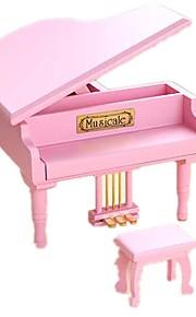 Caixa de música Brinquedos Piano Madeira Peças Unisexo Aniversário Dom