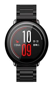 Pulseira de aço inoxidável pulseira de relógio inteligente pulseira forhuami amazalth -22mm / preto