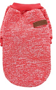 Chat Chien Manteaux Tee-shirt Sweatshirt Vêtements pour Chien Couleur Pleine Café Rouge Vert Bleu Rose Polaire Coton Costume Pour les