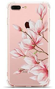 Etui Til Apple iPhone X iPhone 8 Transparent Mønster Bagcover Blomst Blødt TPU for iPhone X iPhone 8 Plus iPhone 8 iPhone 7 Plus iPhone 7