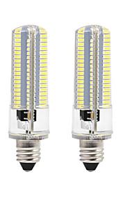 8W LED-kornpærer 152 SMD 3014 700 lm Varm hvit Hvit 3000-3500  6000-6500 K Mulighet for demping AC110 AC220 V 2pcs