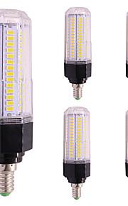 5pcs 12W LED-kornpærer T 126 leds SMD 5730 Varm hvit Kjølig hvit 1000lm 2800-3500;5000-6500
