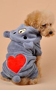 Hond Jumpsuits Hondenkleding Cartoon Grijs Khaki Pluche stof Kostuum Voor huisdieren Casual/Dagelijks