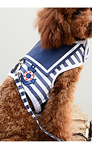 Hond harnassen draagbaar Gestreept Katoen Rood Blauw
