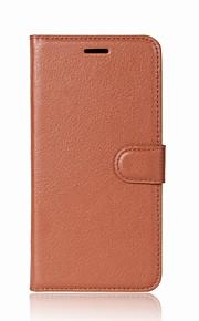Custodia Per A portafoglio Porta-carte di credito Con supporto Con chiusura magnetica Integrale Tinta unica Resistente Similpelle per