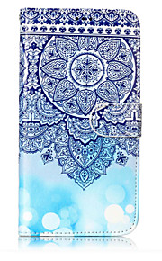For Case Cover Card Holder Wallet with Stand Flip Pattern Full Body Case Mandala Hard PU Leather for Samsung Galaxy J7 (2016) J7 (2017)