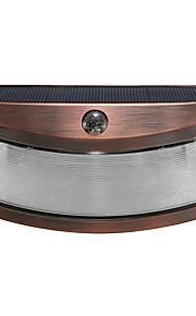 1pcs solenergi phototonus lys vanntett utendørs smilende vegg lys wirecurity trinn natt lamper for trapp hage døråpning-kobber