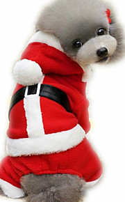 Koira Haalarit Koiran vaatteet Joulu Uusivuosi Englantilainen Punainen