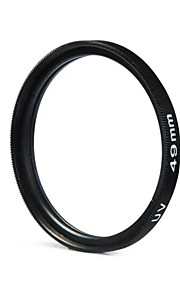 49mm kamera UV beskyttelse filterlins til Canon Nikon Sony - sort