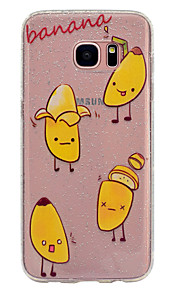 Funda Para Samsung Galaxy Transparente Diseños Cubierta Trasera Brillante Fruta Suave TPU para S8 S8 Plus S7 edge S7 S6