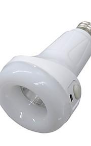 1 stk 5W E27 LED-globepærer 24 leds SMD 5730 Oppladbar Kjølig hvit 400-500lm 6000-6500K DC5V