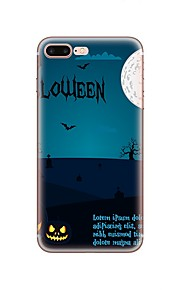 hoesje Voor Apple iPhone X iPhone 8 iPhone 8 Plus Patroon Achterkantje Halloween Zacht TPU voor iPhone X iPhone 7s Plus iPhone 8 iPhone 7