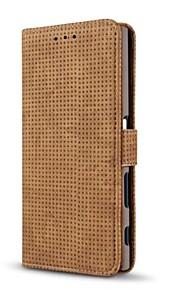 Etui Til Sony Lommebok Kortholder med stativ Flipp Heldekkende Helfarge Hard Kunstlær til Sony Xperia XZ Sony Xperia X compact