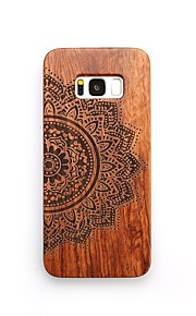 For Case Cover Shockproof Embossed Back Cover Case Flower Hard Wooden for Samsung Galaxy S8 Plus S8