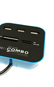 4 Ports USB Hub USB 2.0 With Card Reader(s) Data Hub
