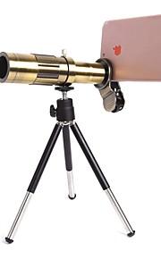 orsda® 20x ultra beast magnifier zoom foco manual telefoto telescópio telefone kit de lente da câmera com tripé high-end para iphone