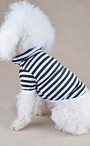 Hond T-shirt Hondenkleding Gestreept Oranje Geel Rood Groen Blauw Katoen Kostuum Voor huisdieren Heren Dames Casual/Dagelijks