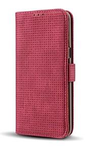 Funda Para Samsung Galaxy Cartera Soporte de Coche con Soporte Flip Cuerpo Entero Color sólido Dura Cuero Sintético para Note 8