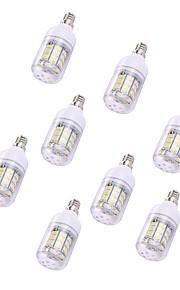 8pcs 2W LED-kornpærer T 30 leds SMD 5730 Varm hvit 150lm 3000-3500K 110-120V