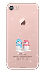 케이스 커버 Apple 용 iPhone X iPhone 8 iPhone 8 Plus 뒷면 커버 울트라 씬 투명 패턴 크리스마스 소프트 TPU iPhone X iPhone 8 Plus iPhone 8 iPhone 7 Plus iPhone 7