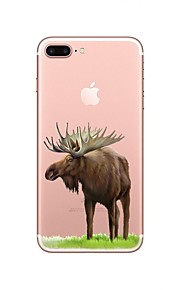 케이스 제품 Apple 투명 패턴 뒷면 커버 동물 크리스마스 소프트 TPU 용 iPhone X iPhone 8 Plus iPhone 8 아이폰 7 플러스 아이폰 (7) iPhone 6s Plus iPhone 6 Plus iPhone 6s 아이폰