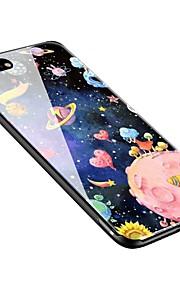 Capinha Para Apple iPhone X iPhone 8 Plus Estampada Capa Traseira céu Macia Vidro Temperado para iPhone X iPhone 8 Plus iPhone 8 iPhone 7