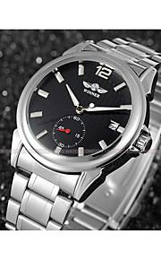 WINNER Homens Relógio Elegante Relógio de Pulso relógio mecânico Automático - da corda automáticamente Calendário Aço Inoxidável Banda