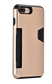 Capinha Para Apple iPhone 8 Plus iPhone 7 Plus Porta-Cartão Antichoque Capa Traseira Armadura Rígida PC para iPhone 8 Plus iPhone 8