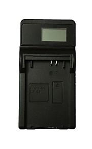 Ismartdigi LPE5 LCD USB Camera Battery Charger for E5 LPE5 Canon EOS 450D 500D 1000D KISSX2 KISSX3 - Black