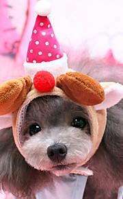 כלב כובעים ובנדנות בגדים לכלבים בד פלסטיק חורף קיץ/אביב חג מולד חג המולד תחפושות עבור חיות מחמד