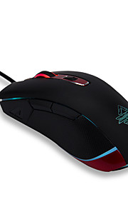 ajazz aj117 firstblood 5000dpi 6 botões rgb led optical usb wired gaming mouse