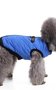 כלב וסט בגדים לכלבים כותנה למטה חורף מסוגנן מוצק פוקסיה חום אדום כחול ורוד תחפושות עבור חיות מחמד