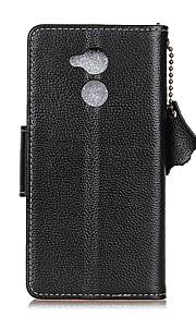 Etui Til Enjoy 6A Pung Kortholder Flip Heldækkende Helfarve Hårdt Ægte læder for Huawei Honor 6A Huawei Enjoy 6s Huawei Enjoy 6