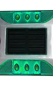 1pcs aluminium solcelle 6-ledet utendørs vei oppkjørselen bakken bakken lys lys grønn