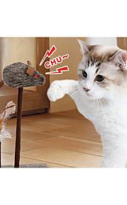 Kattleksak Husdjursleksaker Pipande leksaker gnissla Mus För husdjur