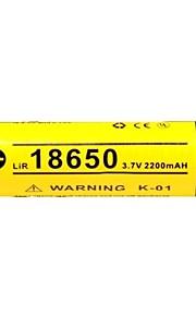KLARUS 18650 2200mAh batteri Bärbar Professionell Enkel att bära Hög kvalitet Lättviktig för 18650 Li-jon