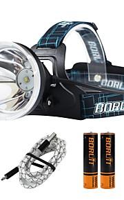 Boruit® B10 Lanternas de Cabeça 1200 lm 4.0 Modo Cree XM-L L2 com Pilhas e Cabos USB Profissional Ajustável Alta qualidade Campismo /