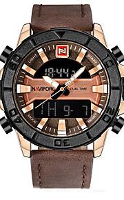 Homens Mulheres Relógio Esportivo Relógio Militar Relogio digital Japanês Quartzo Calendário Cronógrafo Impermeável LCD Mostrador Grande