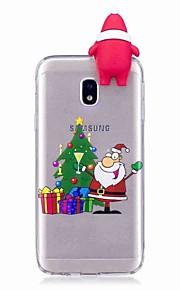 Kılıf Na Samsung Galaxy J7 (2017) J5 (2017) Odporne na wstrząsy Etui na tył Kreskówka 3D Święta Bożego Narodzenia Miękkie TPU na J7